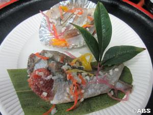 グランプリを受賞した秋山さんのハタハタ寿司