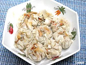 [#10]ごぼうサラダの麩入りしゅうまい、ごぼうサラダの白菜 梅風味