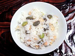 [#14]枝豆(茶豆使用)の豆豆ご飯、枝豆(茶豆使用)のずんだあえ風