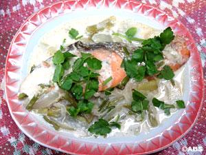 [#24]銀鮭の塩焼の牛乳煮