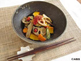 干し野菜のカラフルきんぴら
