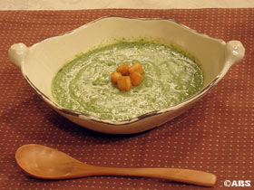 寒じめほうれん草のスープ