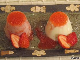 イチゴのブラマンジェ