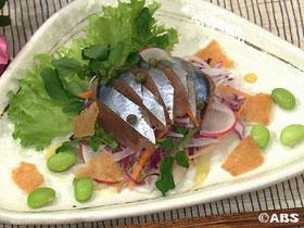 サンマのお刺身サラダ