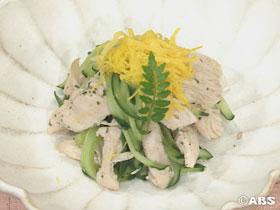 [減塩レシピ]鶏ささみとキュウリのあえもの