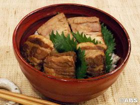 豚角煮まぶし丼