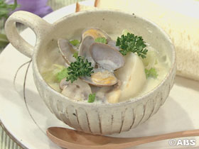 [減塩レシピ] カブとアサリのミルクスープ