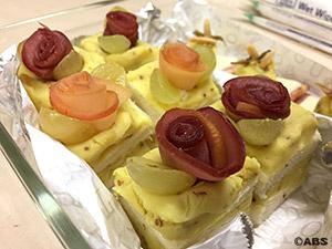 サツマイモとリンゴのサンドウィッチ