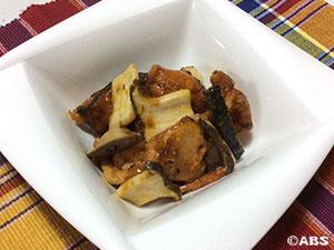鶏肉とかぼちゃの揚げサラダ