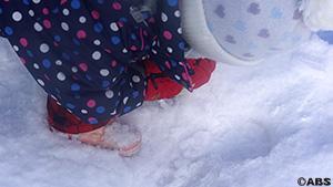 子どもと一緒に毎日雪遊び