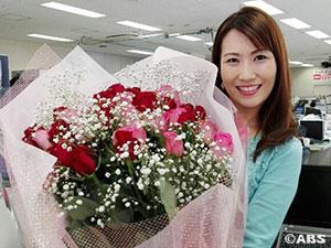34本のバラの花束