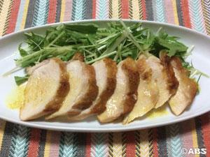 蒸し鶏のカレーマリネ