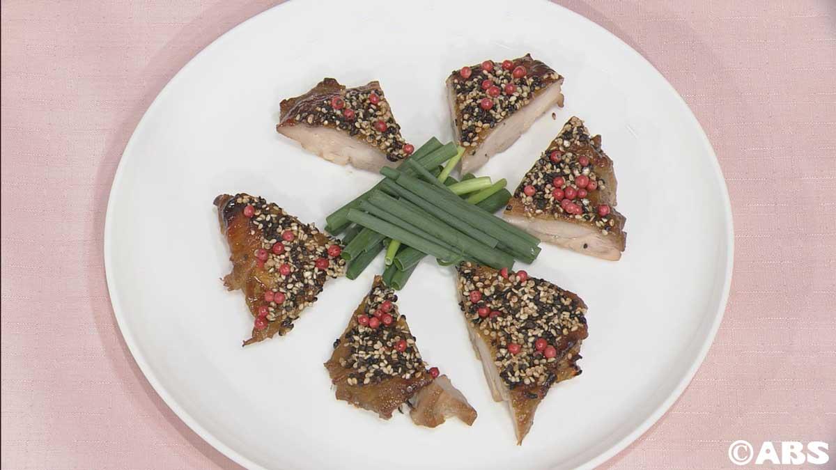 チキンのトロピカル胡麻風味焼き