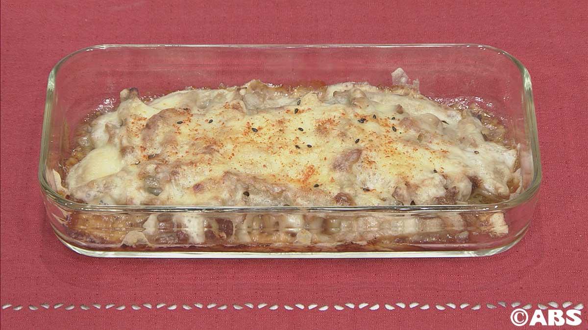 ごぼうのMISOチーズ焼き