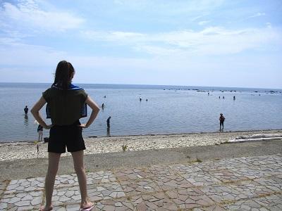 今日は「海の日」!鵜ノ崎海岸で出会った夢のある兄弟たち