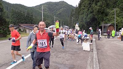 第2エイド (15km地点) 定点カメラ<br>〜秋田内陸100キロチャレンジマラソン2019〜