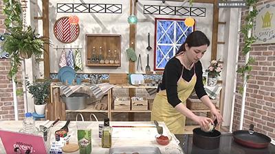 【ACTION!】比内地鶏レシピリレー④もも肉のグリーンオリーブ煮込み