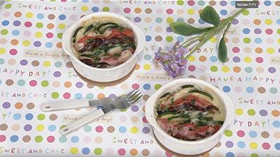 ABSえび☆ステ【シェフズレシピ】ナスとトマトのチーズ焼きby最上美貴子